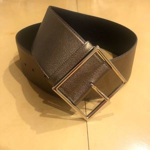 YSL Metallic Bronze Leather Waistbelt NWT